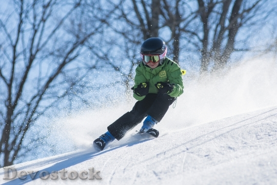 Devostock SKIER BOY SNOW