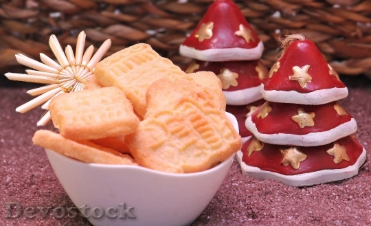 Devostock Speculaas Pastries Christmas Cookes 0 4K