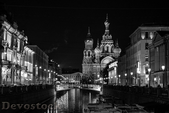 Devostock St Petersburg Russia Nonoj Petersburg Evening City Our Savior On The Blood 4K