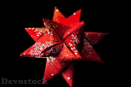 Devostock Star Christmas Adventsster Red 4K