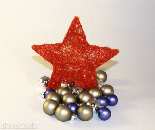 Devostock Star Red Star Chritmas 4K