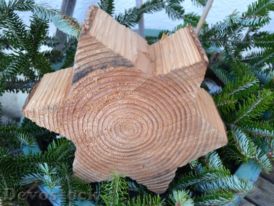 Devostock Star Wood ChristmasDeco 4K