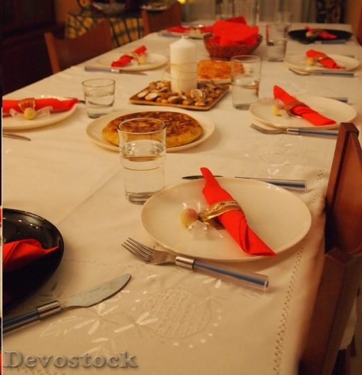 Devostock Table Christmas Cutlery Torilla 4K