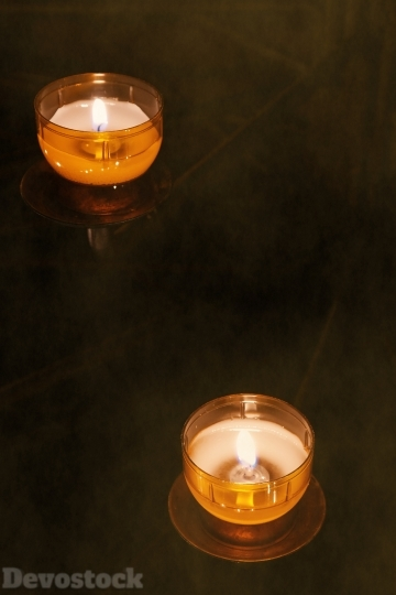 Devostock Tea Lights Candles Cadles 4K