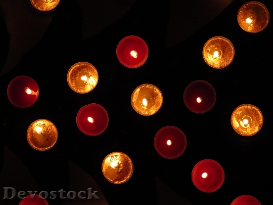 Devostock Tea Lights Christmas Tme 0 4K