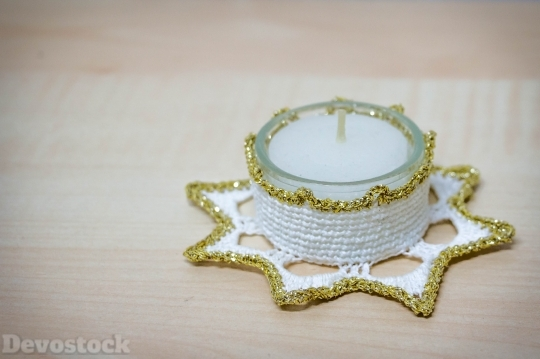 Devostock Tealight Hand Labor Chritmas 4K
