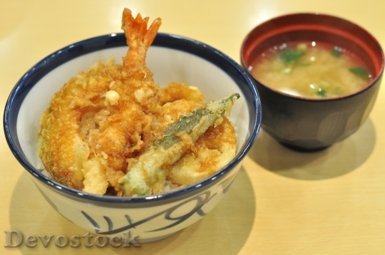Devostock TEMPON AND MISO SOUP Fish