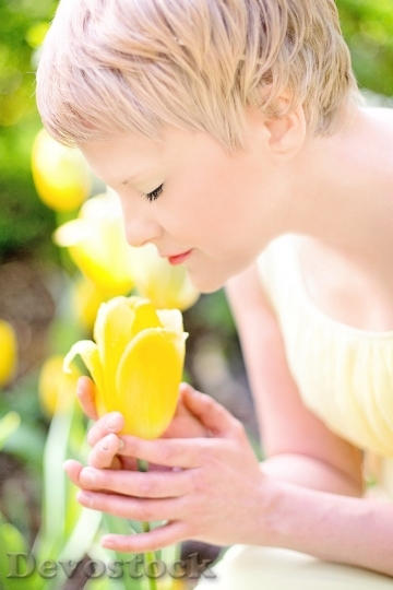 Devostock Tulips Yellow Blonde Pretty Young Woman 3706 4K.jpeg