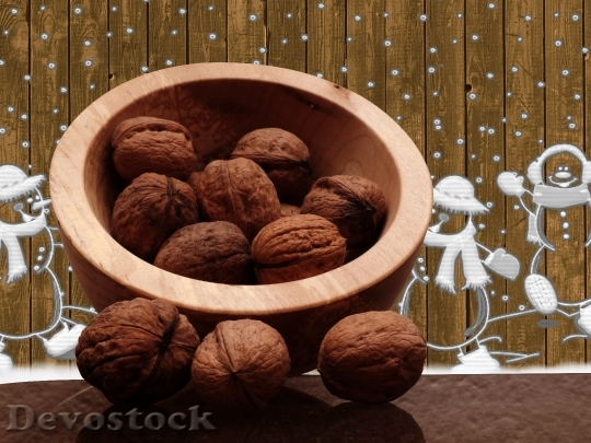 Devostock Walnuts Christmas Advent Winter 0 4K