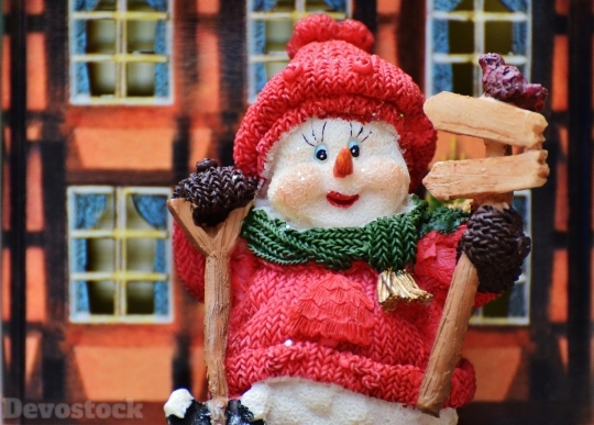 Devostock Winter Snow Man Figurs 21 4K