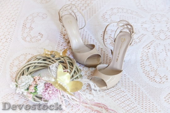 Devostock Woman Sandals Wedding Dresses Bride 15800 4K.jpeg