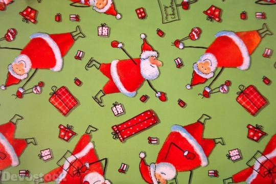 Devostock Wrapping Paper Santa Claues 0 4K