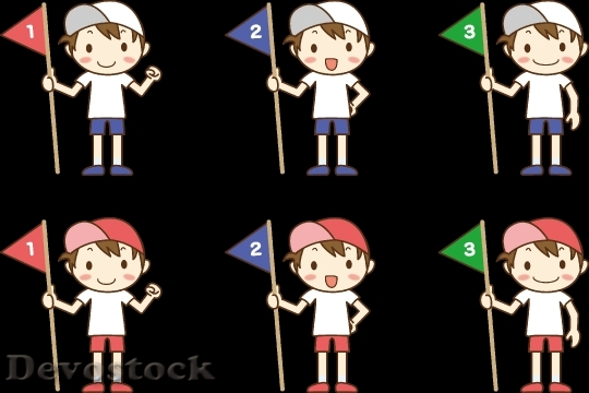 Devostock Boy Flag Set