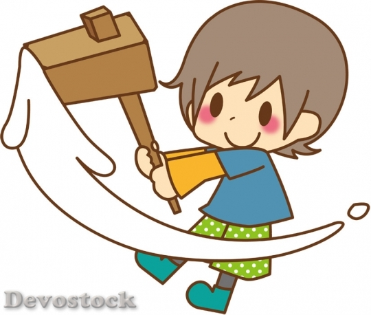 Devostock BOY PLAYING MOCHI