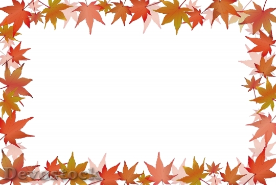 Devostock Fall Leaves Autumn Frame
