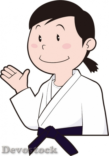 Devostock Female Judo Player