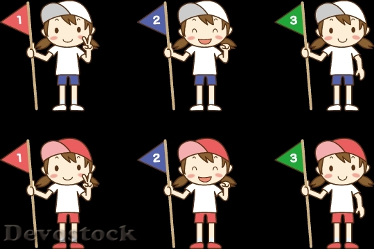 Devostock Flag Woman Set