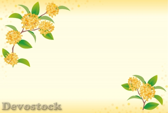 Devostock Flowers Decorative Frame
