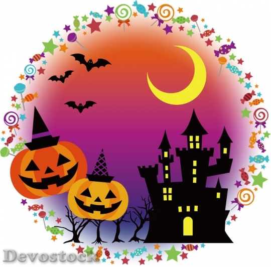 Devostock Halloween Background Castle