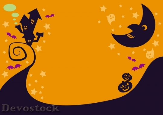 Devostock Halloween Background Witch