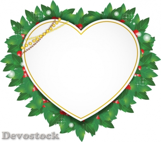 Devostock LABELS WESTERN HOLLY HEART