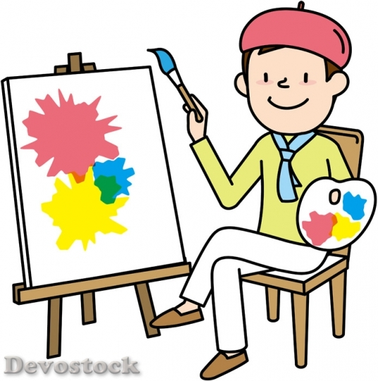 Devostock PAINTER DRAWING ARTIST
