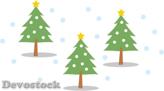 Devostock SNOW AND FIR TREE