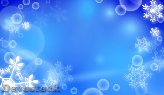 Devostock SNOW CRYSTAL BLUE BACKGROUND