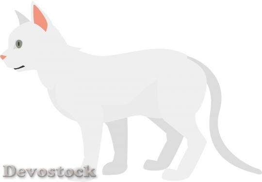 Devostock WHITE CAT Sideview