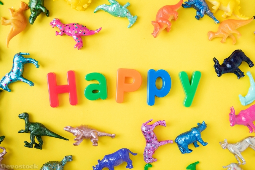 Devostock Alphabets Animals Assorted Happy 4k