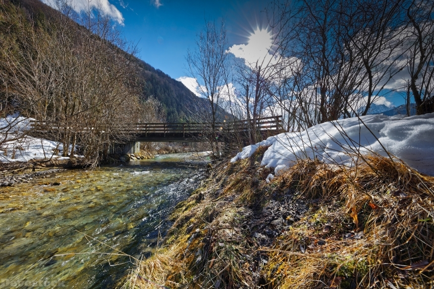 Devostock Austria Winter Rivers Bridges Kohlenbach Tyrol 4K