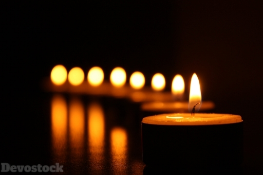 Devostock Candles Light Hope 4K