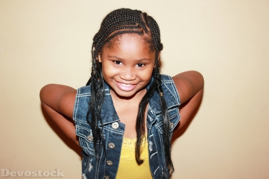 Devostock Child With Braids Braids 4K