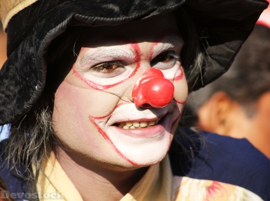 Devostock Clown Makeup Circus Fun 4K