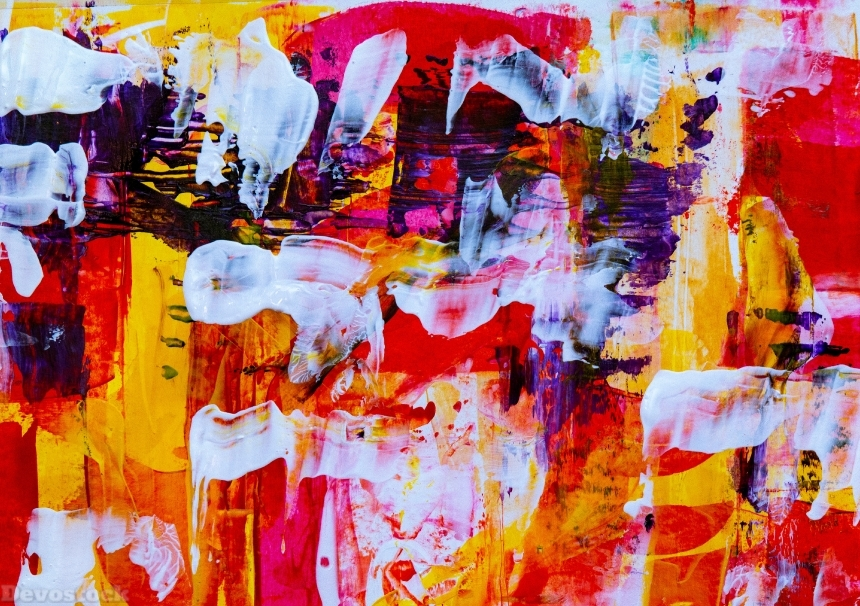 Devostock Concept Abstract Expressionism Painting 4k