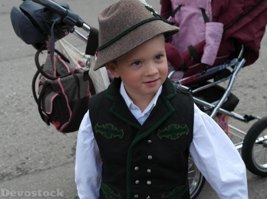 Devostock Costume Boy Bavarian Child 4K