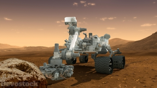 Devostock Curiosity Robot Geologist Chemist Science Space 4K