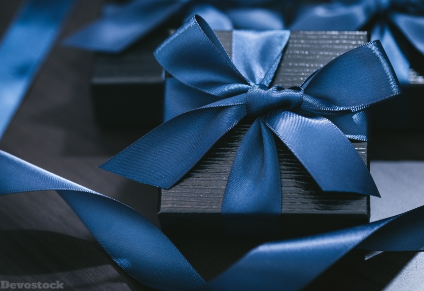Devostock Dark Blue Gift Design One rk