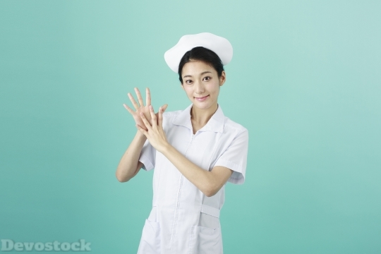 Devostock Girl Nurse Hands Expressions  Nine 4k