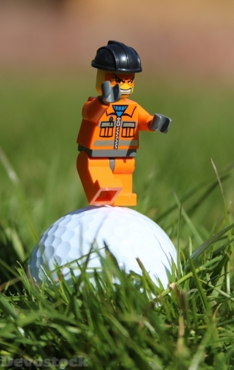 Devostock Golf Golf Ball Angry 1 4K