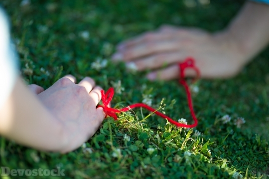 Devostock Hand Knot Couples Grass 4k