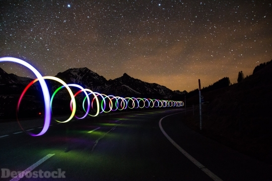 Devostock Highway Night Color 4k