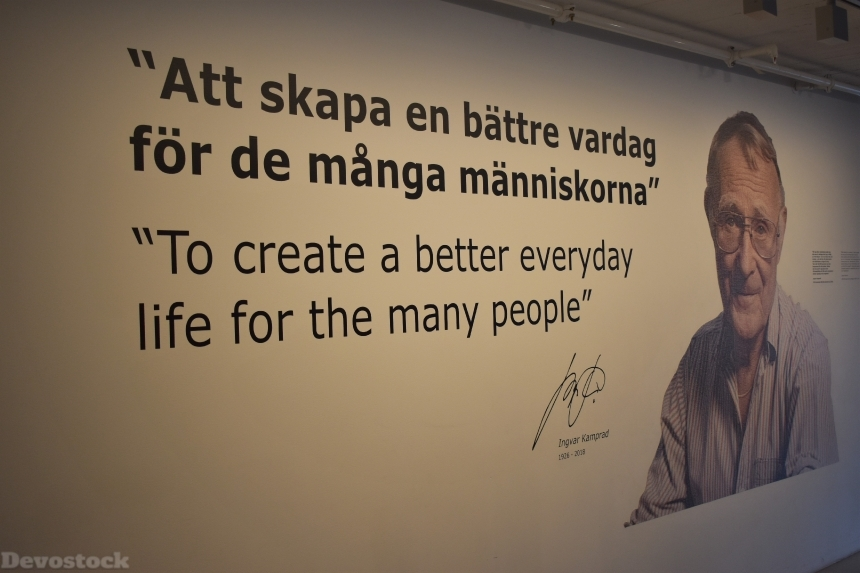Devostock Ikea Museum Founder Quote Sweden 4k
