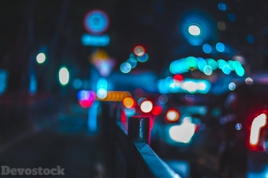 Devostock Lights Outdoor City Blur 4k
