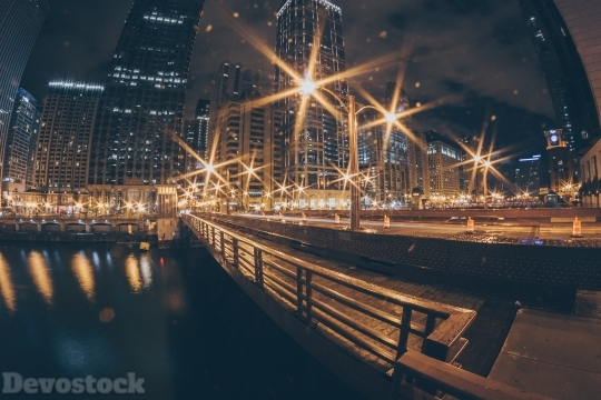 Devostock Lights Outdoor City Night 4k