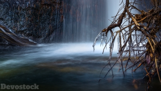 Devostock Nature Scenic View Waterfall 4K
