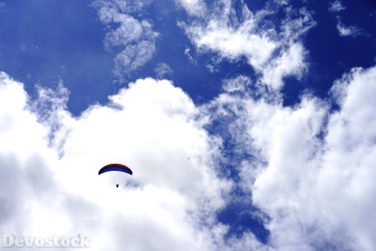 Devostock Nature View Sky Paragliding 4K