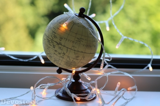 Devostock Photography Lights Earth Window 4k