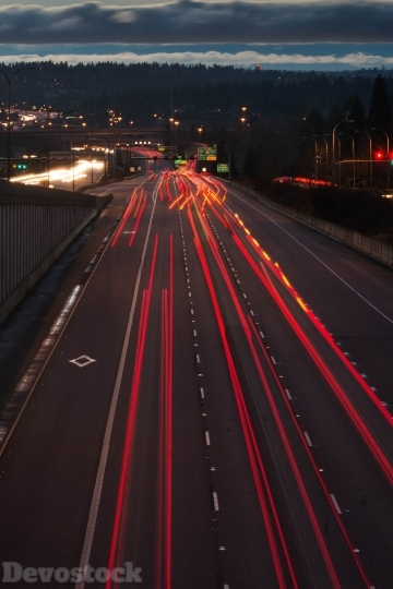 Devostock Photography Lights Highway 4k