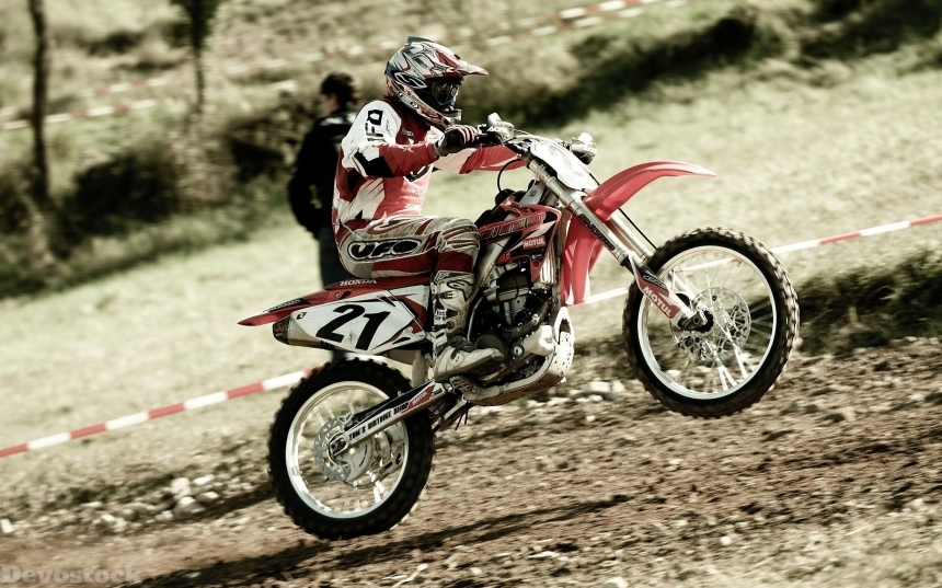 Devostock Sport Man Motocross Speed Power Risk 4k
